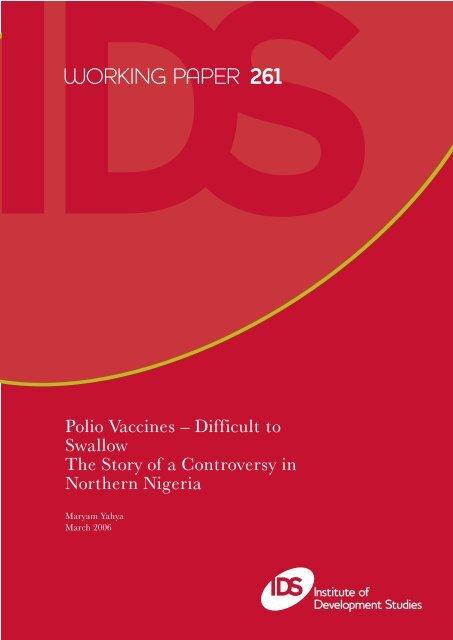 WORKING PAPER 261 - Institute of Development Studies