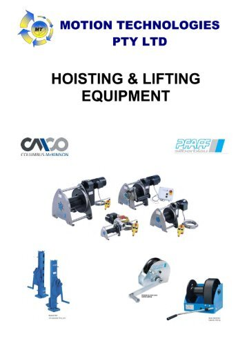 MT CMCO Hoisting and Lifting 081012.pdf - Motion Technologies