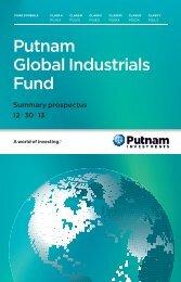 Global Industrials Fund Summary Prospectus - Putnam Investments