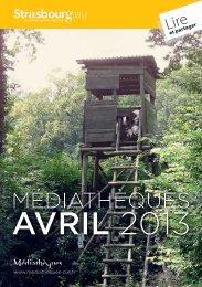 AVRIL 2013 - Médiathèques de la ville et de la communauté urbaine ...