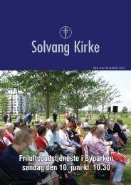 Friluftsgudstjeneste i Byparken søndag den 10. juni kl. 10.30