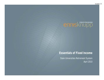 Essentials of Fixed Income - SURS