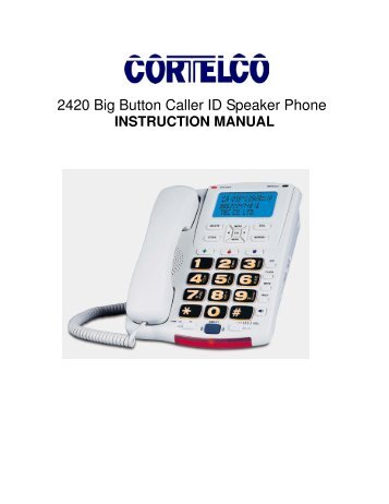 2420 Big Button Caller ID Speaker Phone - Payphone.com