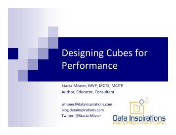 Designing Cubes for Performance - Data Inspirations