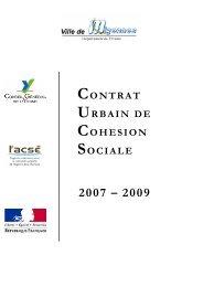 contrat urbain de cohesion sociale - SIG Politique de la Ville ...