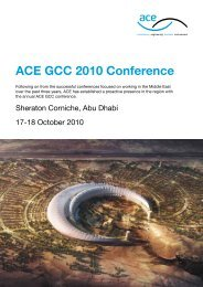 ACE GCC 2010 Conference - Association for Consultancy and ...