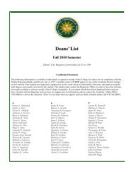 Deans List Fall 2010.pub - Siena College