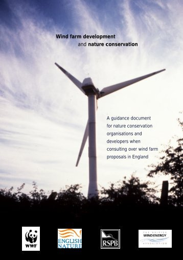 Wind farm development and nature conservation - APERe
