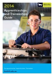 Apprenticeships and Traineeships Guide - Box Hill Institute of TAFE