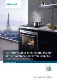 Komfort-Sets - Siemens Hausgeräte