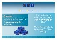 Ihre Chance - European Distribution Ideas