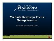 Website Redesign Focus Group Session - InMaricopa.com