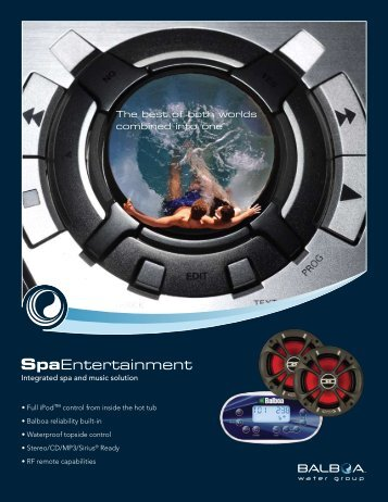 Spa Entertainment - Balboa Water Group