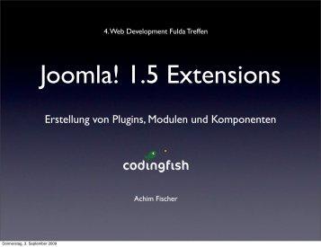 Joomla! 1.5 Extensions - webdevFulda