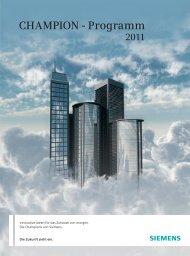 CHAMPION - Programm - Siemens Home Appliances