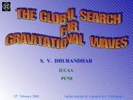 Sanjeev Dhurandhar Colloqm - Indian Institute of Astrophysics
