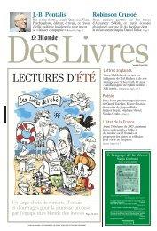 LECTURES D'ÉTÉ - ddooss