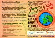 Un Forum Social Local en Forez - Loire Solidaires