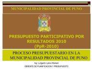 PRESUPUESTO PARTICIPATIVO POR RESULTADOS 2010