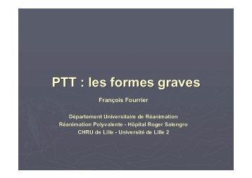 PTT : les formes graves