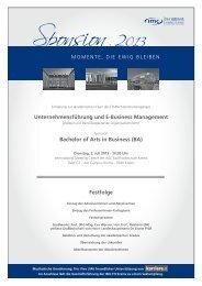 Festfolge Unternehmensführung und E-Business Management ...