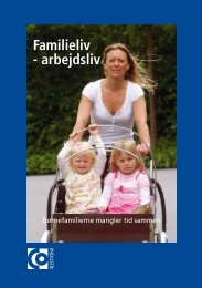 Familieliv - arbejdsliv - CO-industri