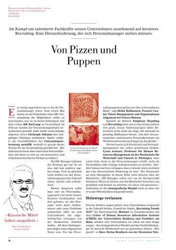 Von Pizzen und Puppen - HRM-Forum
