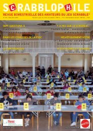 Mai/Juin 2009 - Fédération Suisse de Scrabble