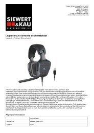 Logitech G35 Surround Sound Headset - Siewert & Kau