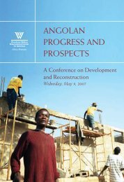 angolan progress and prospects - Woodrow Wilson International ...