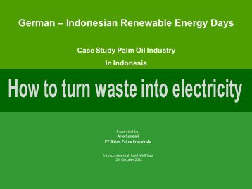 German – Indonesian Renewable Energy Days