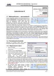 Makropolecenia - Wydział Zarządzania i Ekonomii