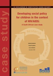 Developing social policy for children in the context of HIV/AIDS: