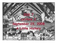 ESS 7 Lecture 2 September 29, 2008 A Little History