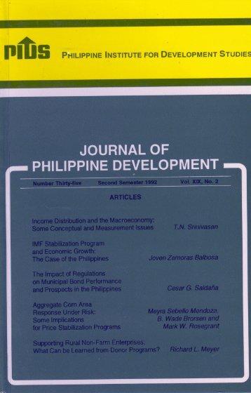 journal of philippine development - Philippine Institute for ...