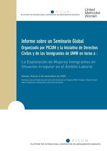 Informe sobre un Seminario Global Organizado por PICUM y la ...