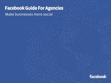 Facebook Guide For Agencies