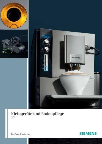 Das Kleingeräte- und Bodenpflege-Programm von Siemens.