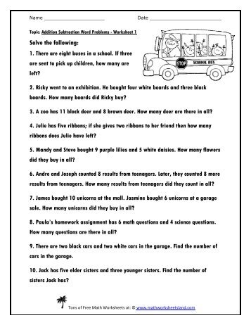 Number Names Worksheets adding and subtracting decimals worksheets : Addition And Subtraction Decimal Word Problems Year 5 - Reading ...