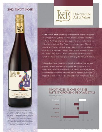 2012 pinot noir - Winebow