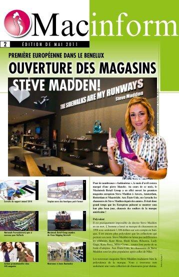 ouvERtuRE dES MAGASiNS StEvE MAddEN! - Macintosh Retail ...