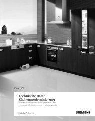 Technische Daten Küchenmodernisierung - Siemens