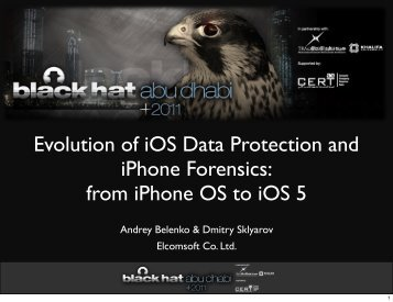 Evolution of iOS Data Protection and iPhone Forensics: from iPhone ...