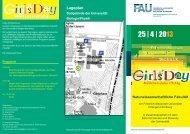 25 | 4 | 2013 - Naturwissenschaftliche Fakultät der FAU - Startseite