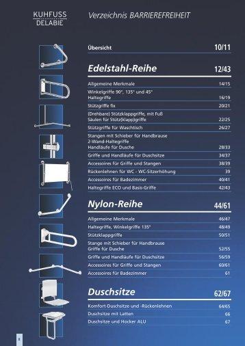 Edelstahl-Reihe Duschsitze Nylon-Reihe
