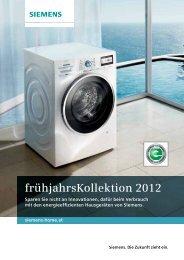 frühjahrsKollektion 2012 - Siemens Home Appliances