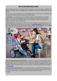 How To Buy Right Baby Stroller