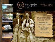 Gold - BCGold Corp.