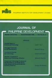 JOURNAL OF - Philippine Institute for Development Studies