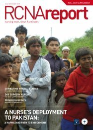 a nurse's DePloyment to Pakistan - Royal College of Nursing, Australia